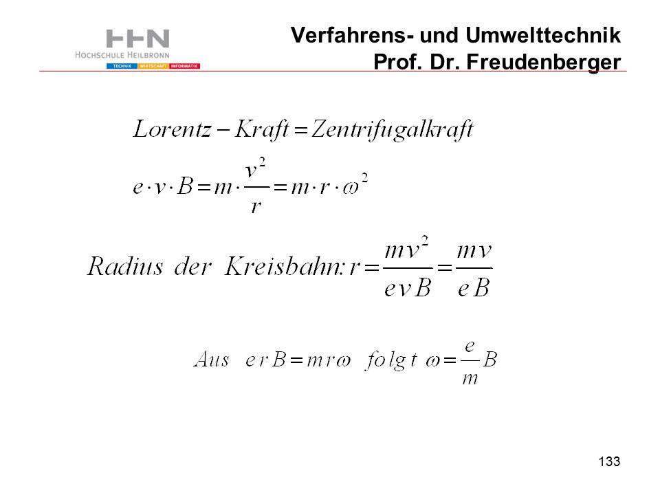 133 Verfahrens- und Umwelttechnik Prof. Dr. Freudenberger