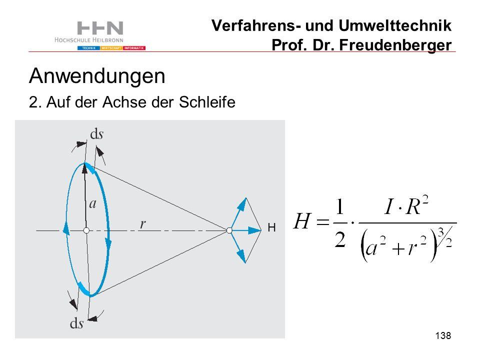 138 Verfahrens- und Umwelttechnik Prof. Dr. Freudenberger Anwendungen 2.