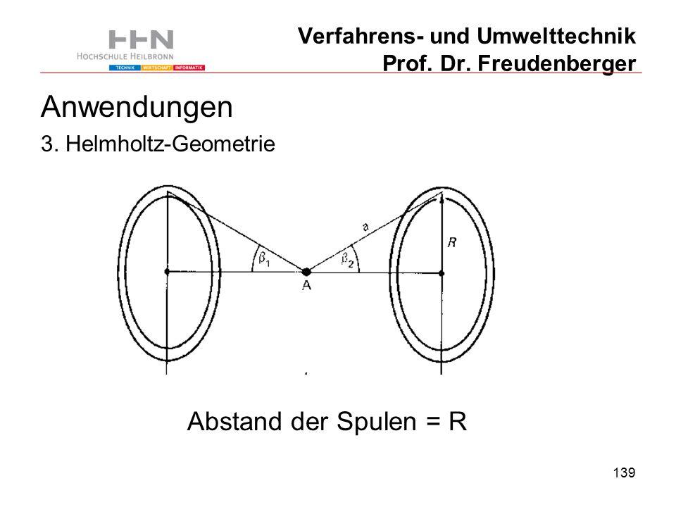 139 Verfahrens- und Umwelttechnik Prof. Dr. Freudenberger Anwendungen 3.
