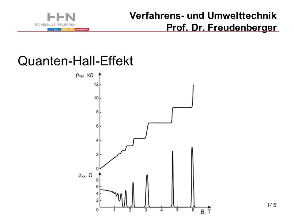 145 Verfahrens- und Umwelttechnik Prof. Dr. Freudenberger Quanten-Hall-Effekt