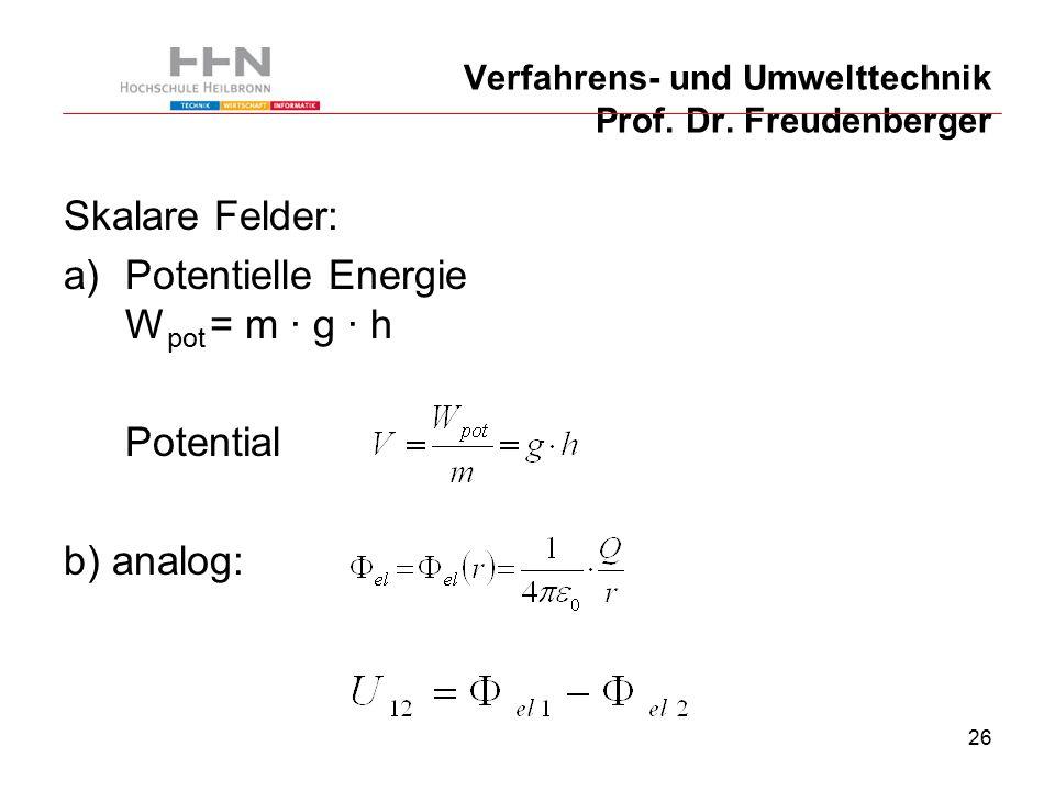 26 Verfahrens- und Umwelttechnik Prof. Dr.