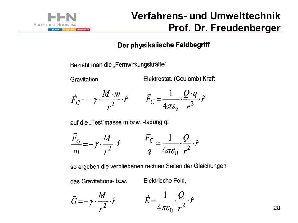 28 Verfahrens- und Umwelttechnik Prof. Dr. Freudenberger
