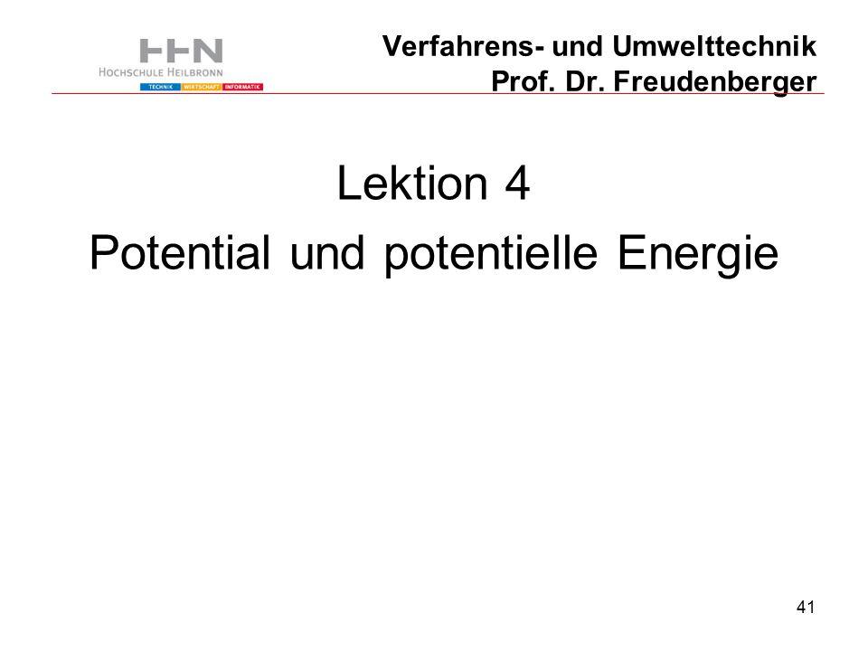 41 Verfahrens- und Umwelttechnik Prof. Dr.