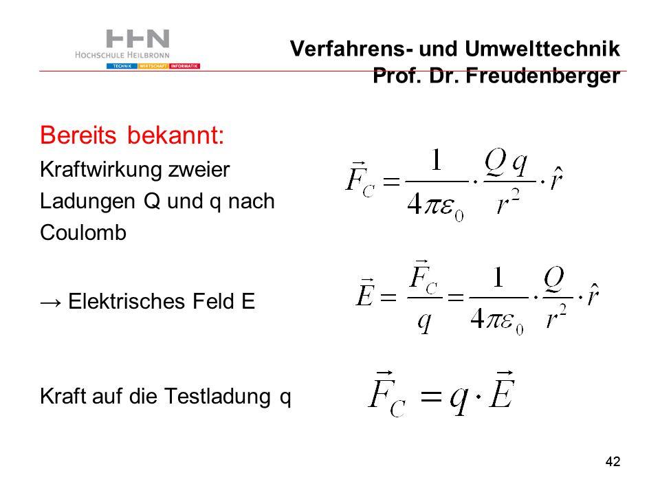 42 Verfahrens- und Umwelttechnik Prof. Dr.