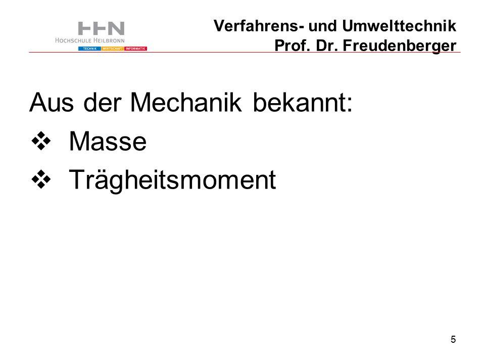116 Verfahrens- und Umwelttechnik Prof. Dr. Freudenberger