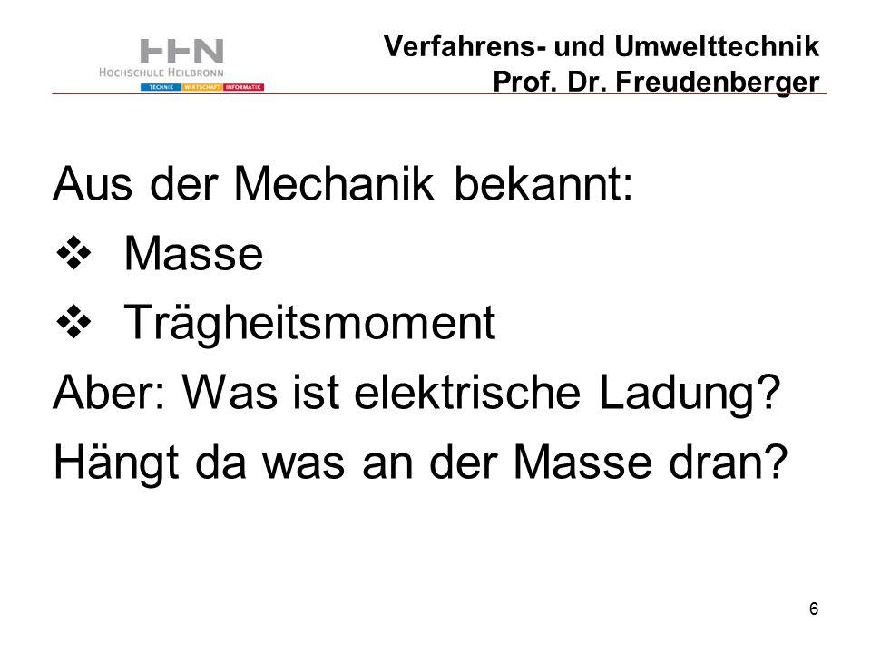 57 Verfahrens- und Umwelttechnik Prof. Dr. Freudenberger