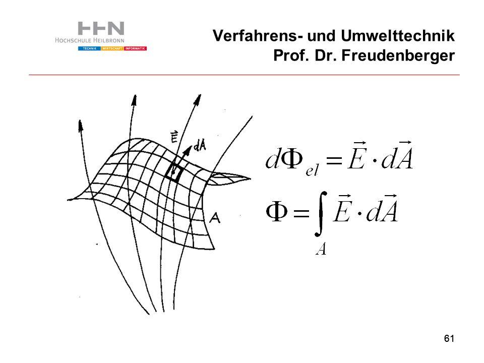 61 Verfahrens- und Umwelttechnik Prof. Dr. Freudenberger