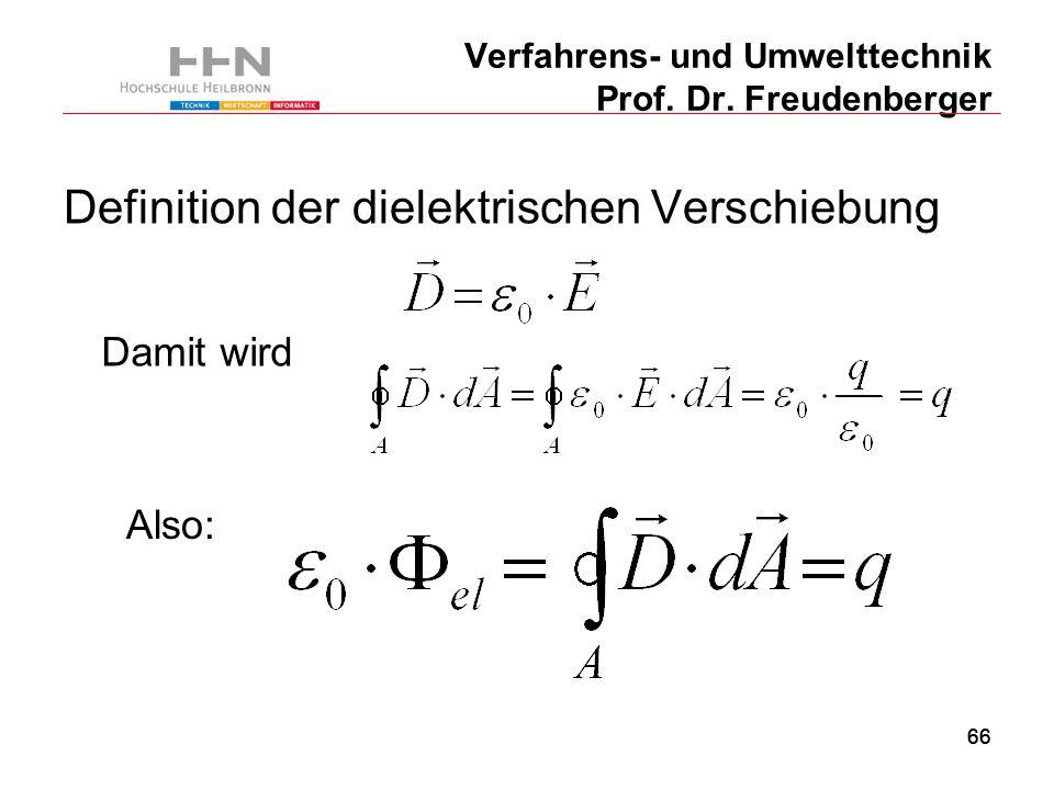 66 Verfahrens- und Umwelttechnik Prof. Dr.