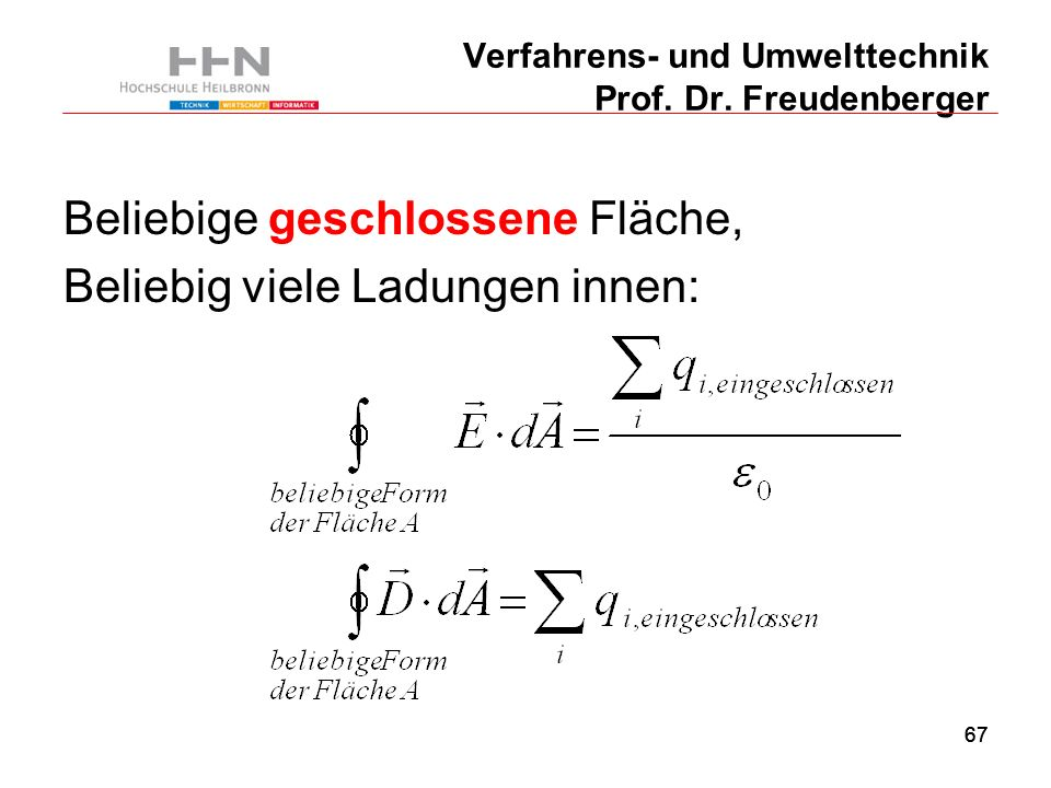 67 Verfahrens- und Umwelttechnik Prof. Dr.