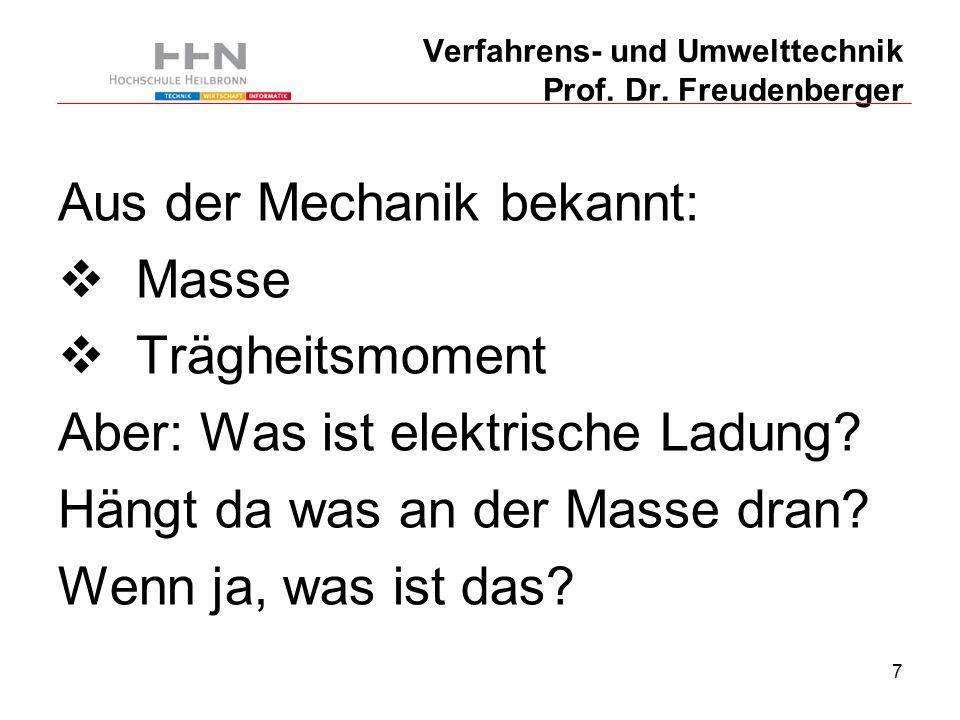 38 Verfahrens- und Umwelttechnik Prof. Dr. Freudenberger