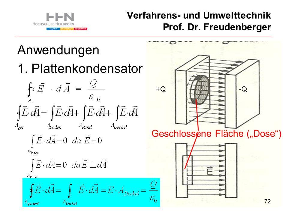 72 Verfahrens- und Umwelttechnik Prof. Dr. Freudenberger Anwendungen 1.