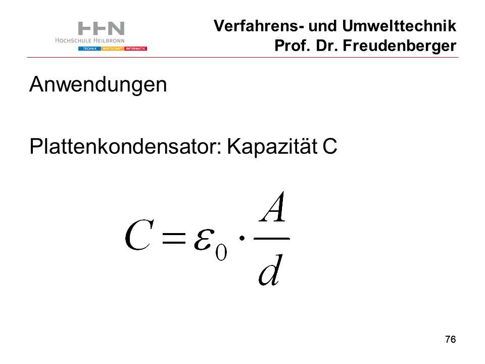 76 Verfahrens- und Umwelttechnik Prof. Dr.
