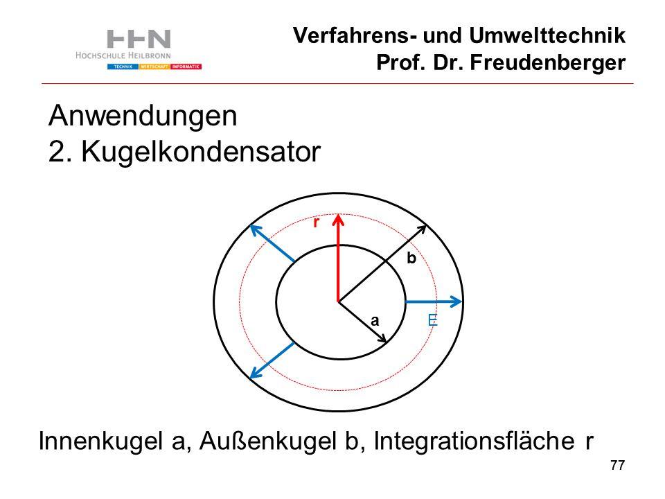 77 Verfahrens- und Umwelttechnik Prof. Dr. Freudenberger Anwendungen 2.