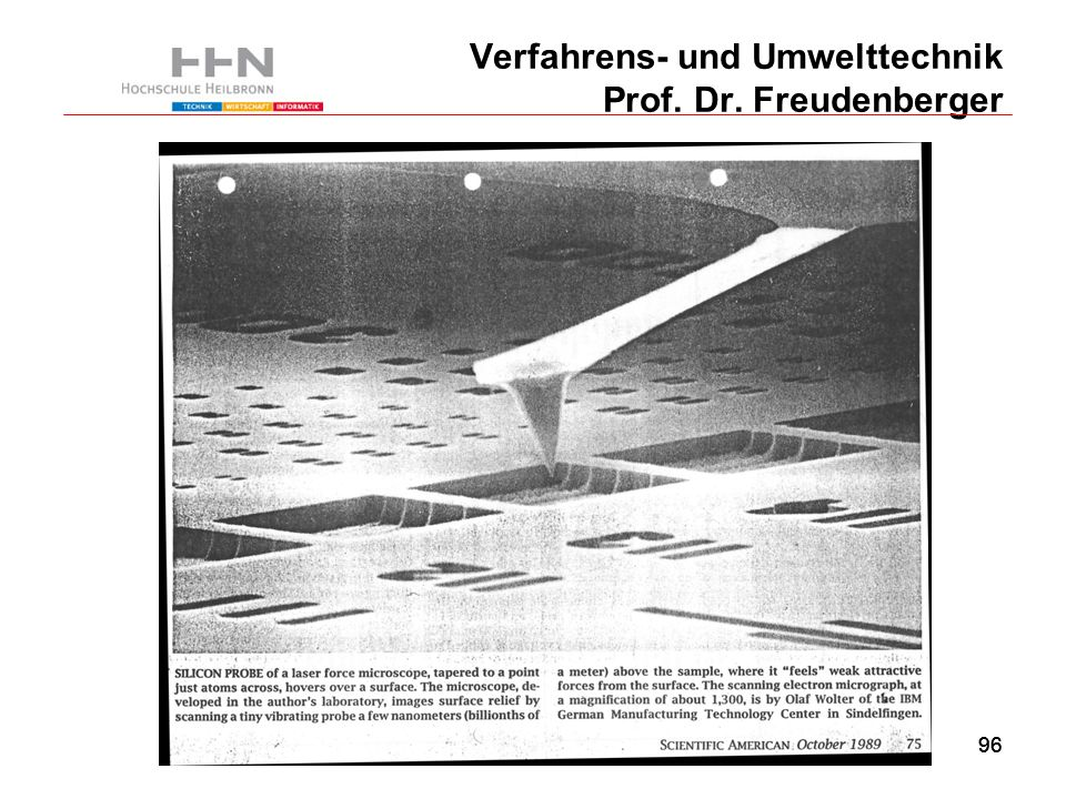 96 Verfahrens- und Umwelttechnik Prof. Dr. Freudenberger 96