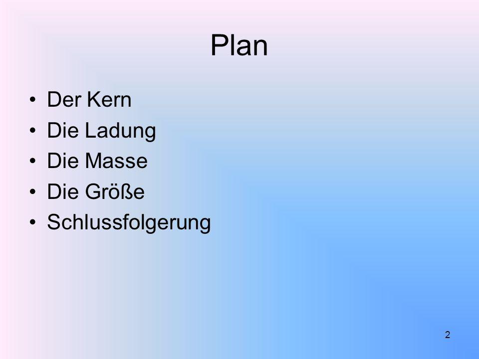Plan Der Kern Die Ladung Die Masse Die Größe Schlussfolgerung 2