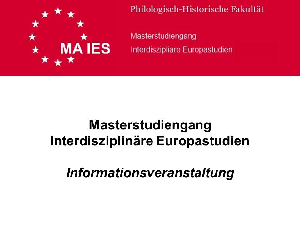 Masterstudiengang Interdisziplinäre Europastudien Informationsveranstaltung