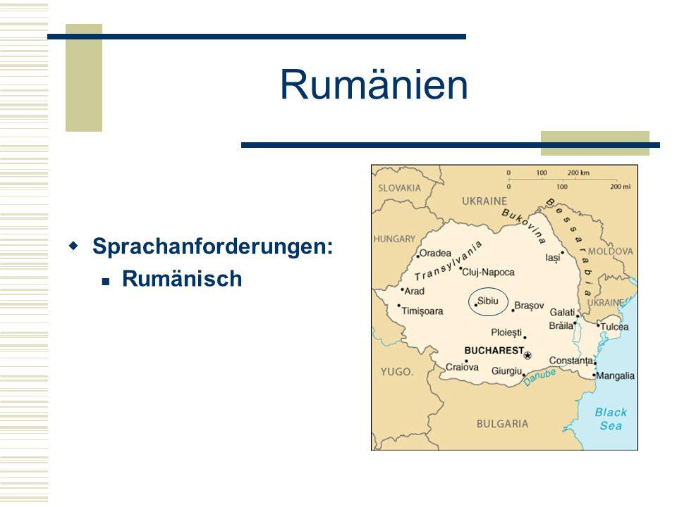 Rumänien  Sprachanforderungen: Rumänisch
