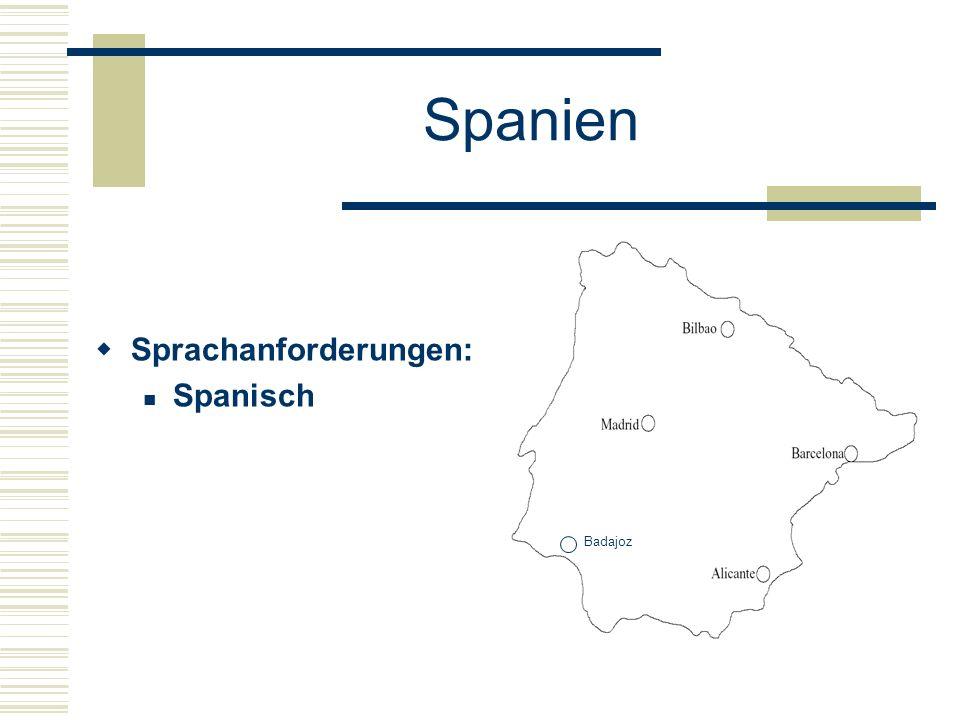 Spanien  Sprachanforderungen: Spanisch Badajoz