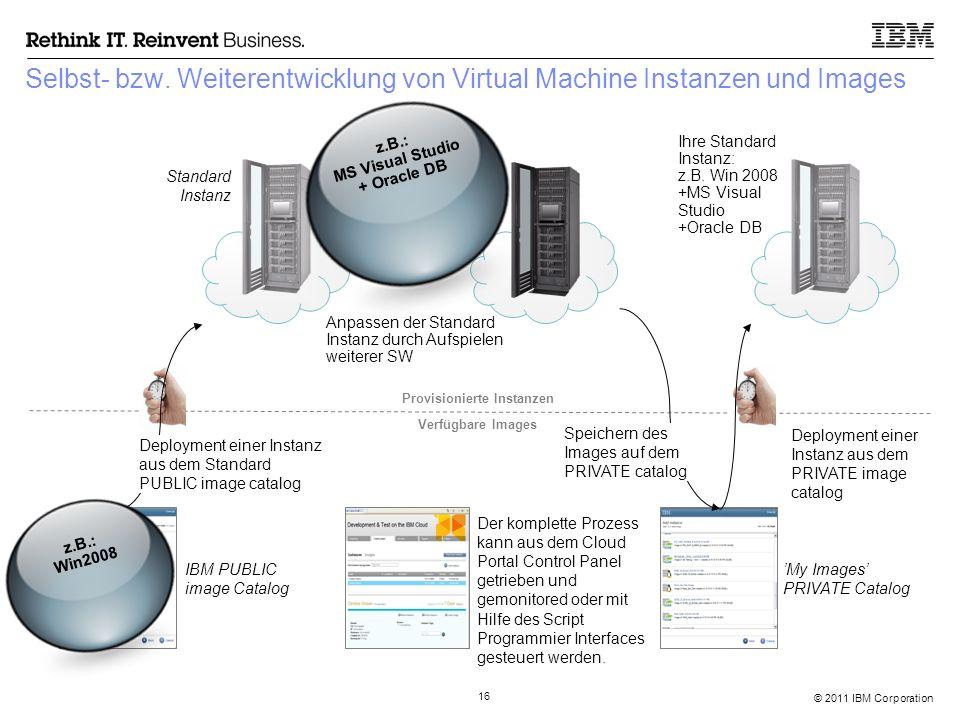 © 2011 IBM Corporation 16 Selbst- bzw.