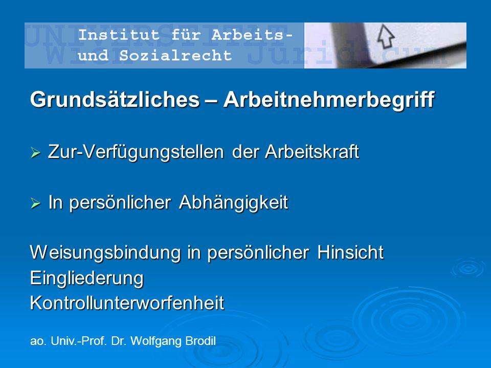 Judikatur  Alkoholkontrollen – OGH 9 ObA 23/15w  Whistleblowing - DSK 14.12.2012, K 600.320 - 005/0003-DVR/2012 m Besprechungsaufsatz Brodil, ZAS 2013, 269.