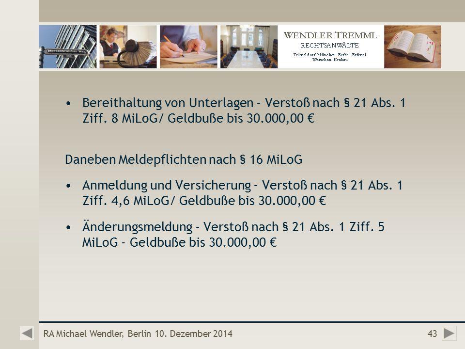 RA Michael Wendler, Berlin 10.
