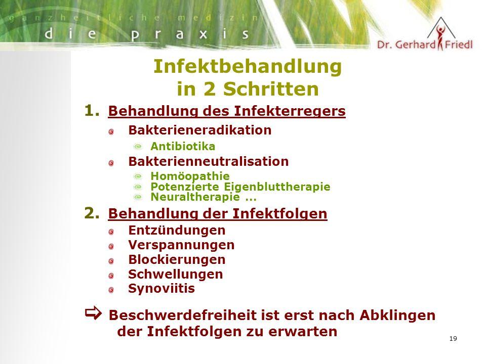 19 Infektbehandlung in 2 Schritten 1.