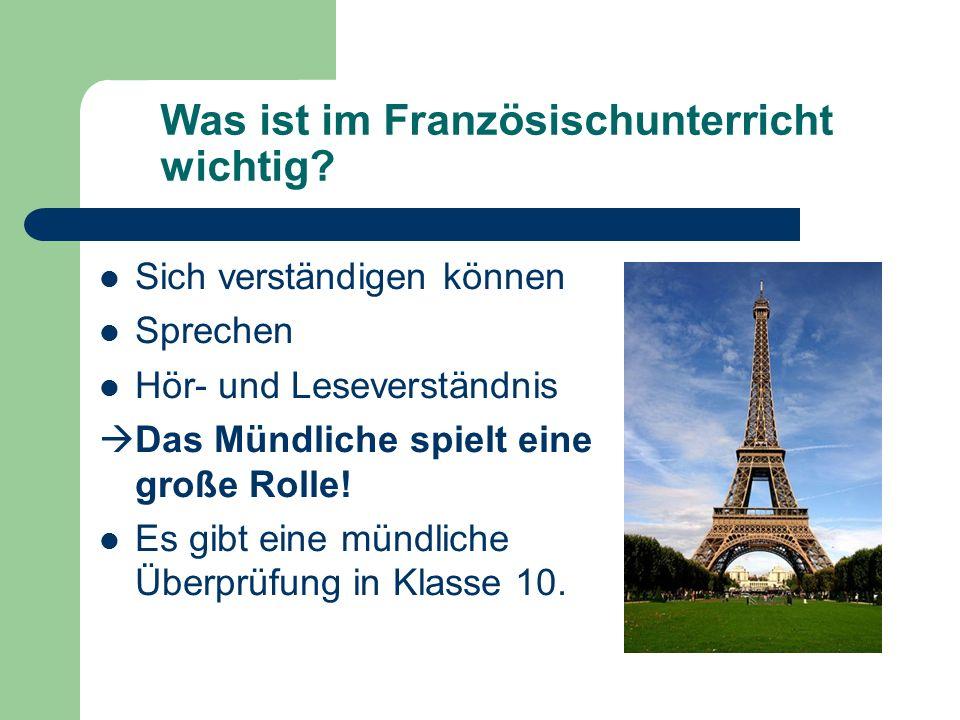 Was ist im Französischunterricht wichtig.
