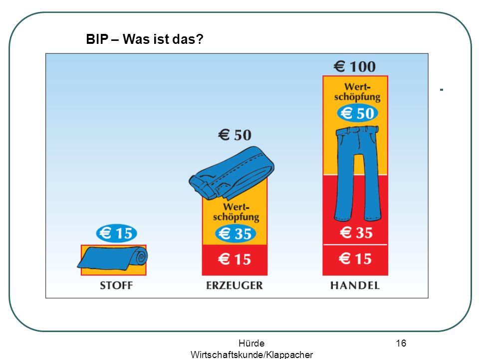 Hürde Wirtschaftskunde/Klappacher 15 BIP – Was ist das?