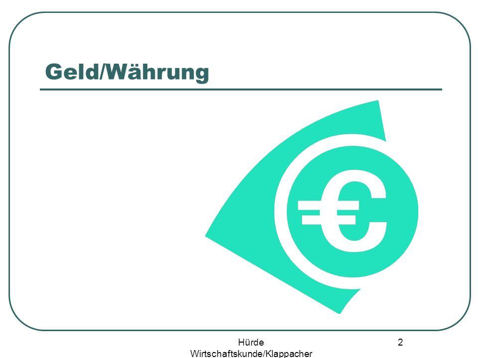 Hürde Wirtschaftskunde/Klappacher 1 Univ. Doz. Prof.