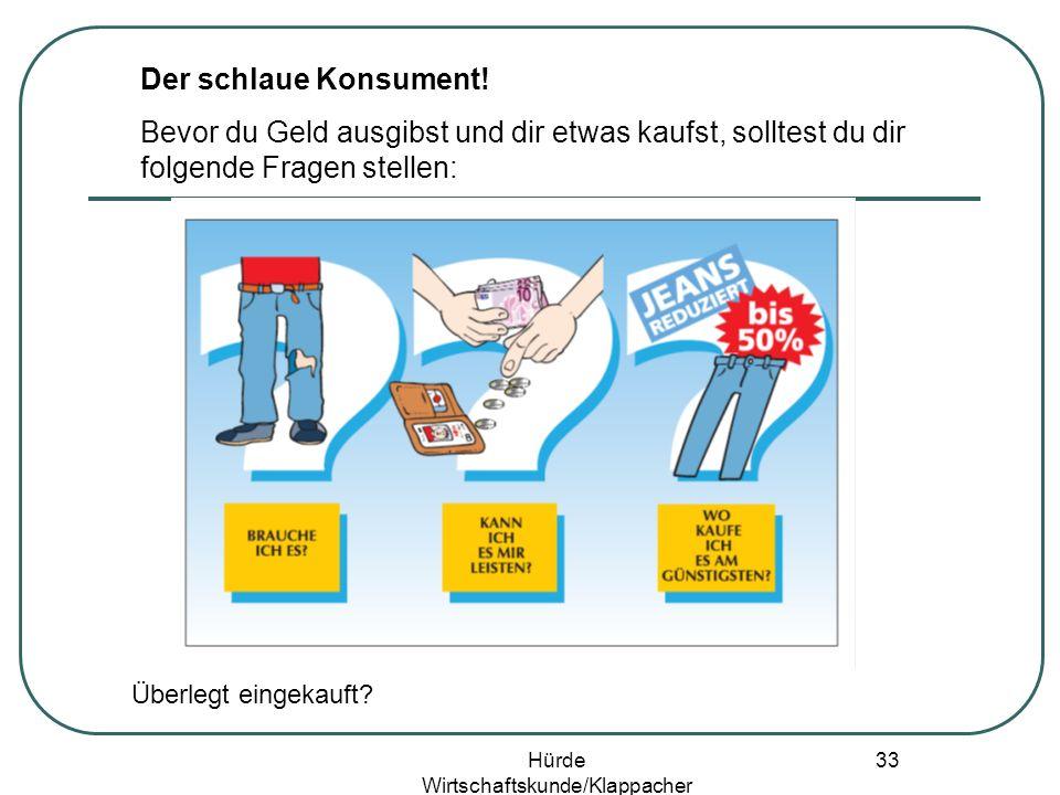 Hürde Wirtschaftskunde/Klappacher 32 Einkaufen/Werbung/ Konsumentenschutz