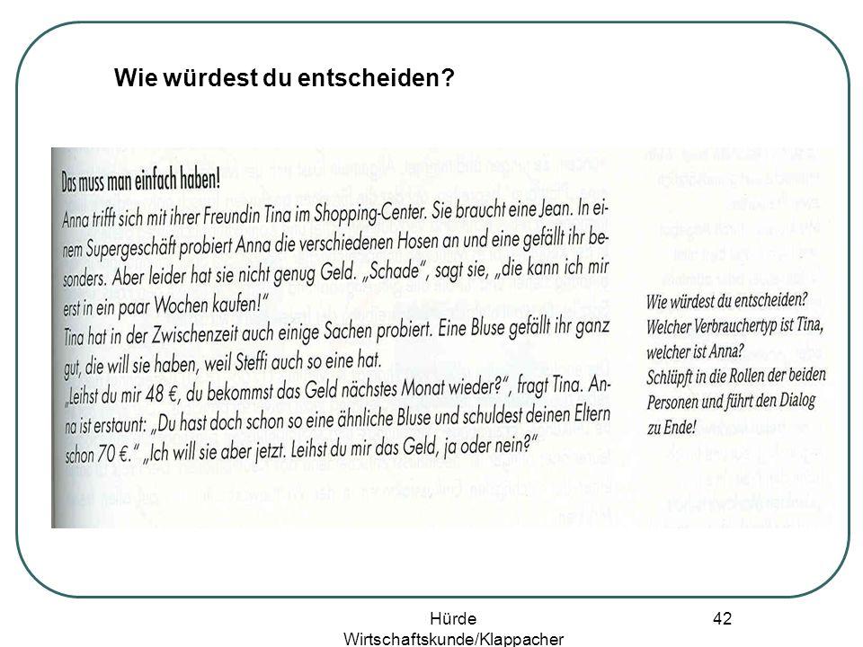 Hürde Wirtschaftskunde/Klappacher 41 Werbung ist alles!/?