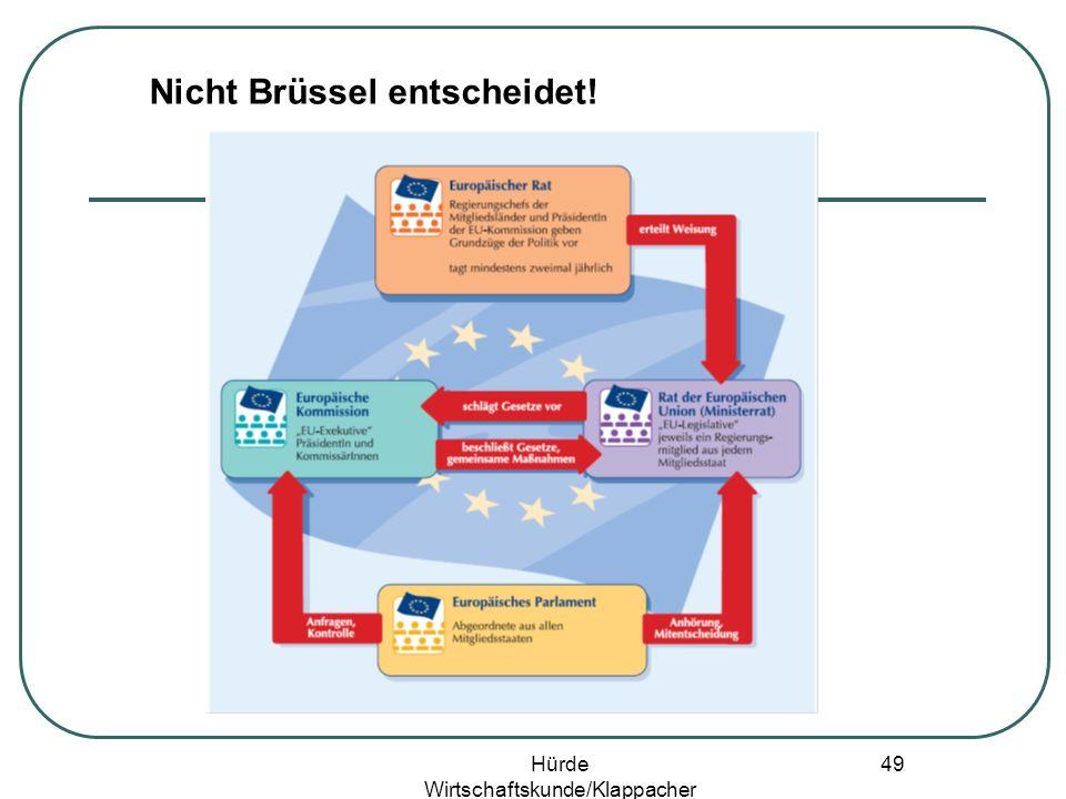 Hürde Wirtschaftskunde/Klappacher 48 Nicht Brüssel entscheidet!