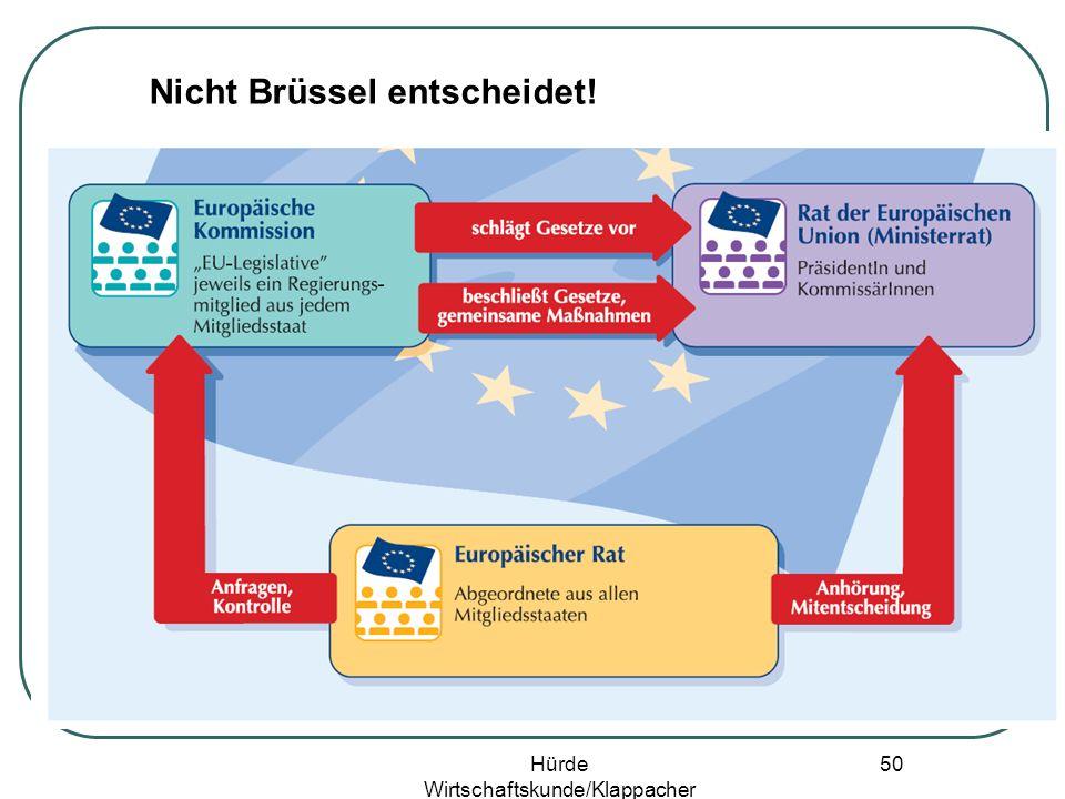 Hürde Wirtschaftskunde/Klappacher 49 Nicht Brüssel entscheidet!