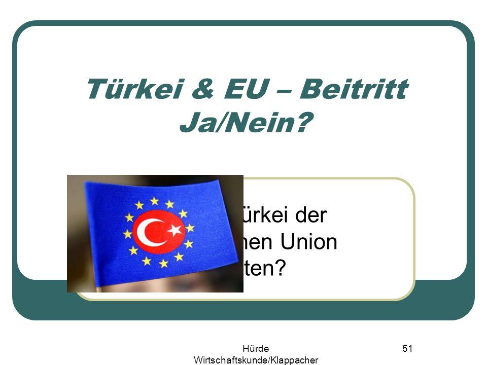 Hürde Wirtschaftskunde/Klappacher 50 Nicht Brüssel entscheidet!