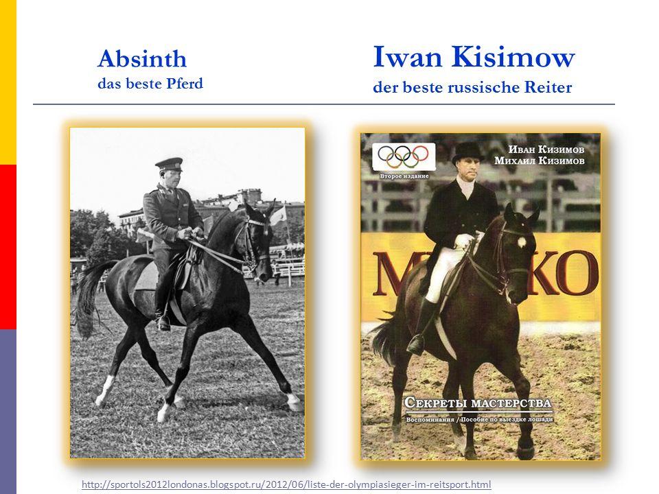 Absinth das beste Pferd Iwan Kisimow der beste russische Reiter http://sportols2012londonas.blogspot.ru/2012/06/liste-der-olympiasieger-im-reitsport.html