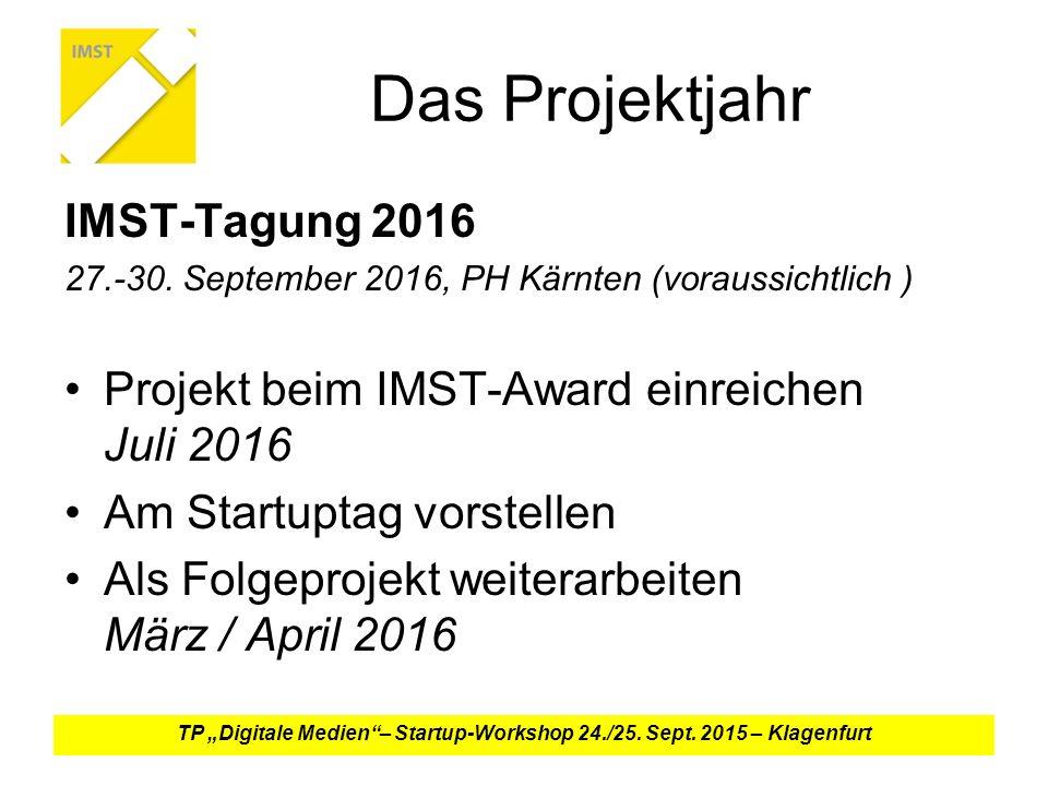 Das Projektjahr IMST-Tagung 2016 27.-30.