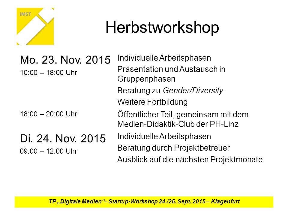Herbstworkshop Mo.23. Nov.