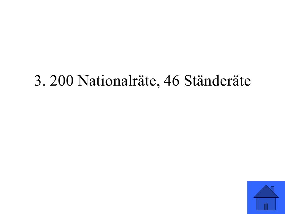 3. 200 Nationalräte, 46 Ständeräte