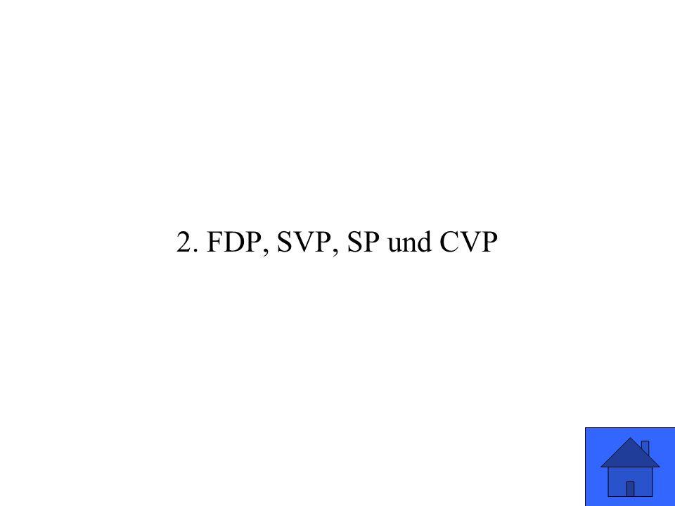 2. FDP, SVP, SP und CVP