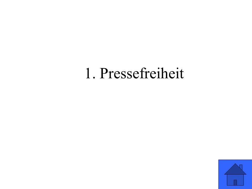 1. Pressefreiheit