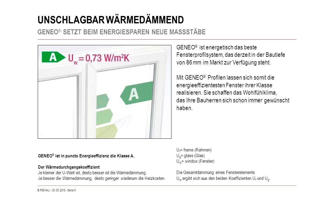© REHAU - 30.05.2016 - Seite 50 FÜR HÖCHSTEN WOHNKOMFORT BESTE SCHALLDÄMMUNG – ENERGIEEFFIZIENZ INKLUSIVE