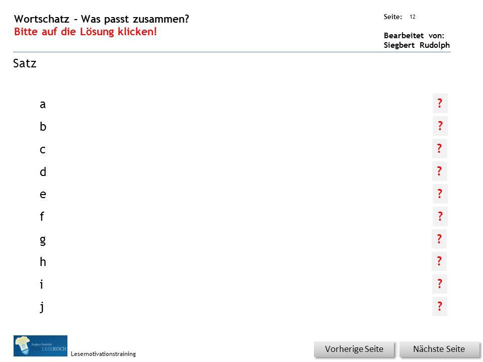 Übungsart: Seite: Bearbeitet von: Siegbert Rudolph Lesemotivationstraining 11 Wortschatz – Was passt zusammen.