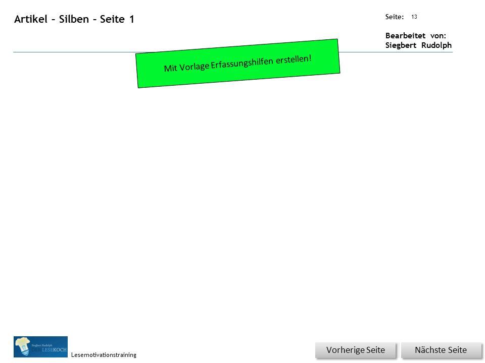 Übungsart: Seite: Bearbeitet von: Siegbert Rudolph Lesemotivationstraining 12 Wortschatz – Was passt zusammen.