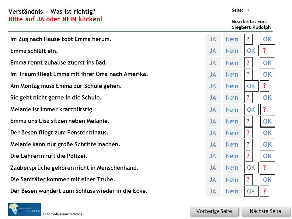 Übungsart: Seite: Bearbeitet von: Siegbert Rudolph Lesemotivationstraining 44 Reihenfolge finden.