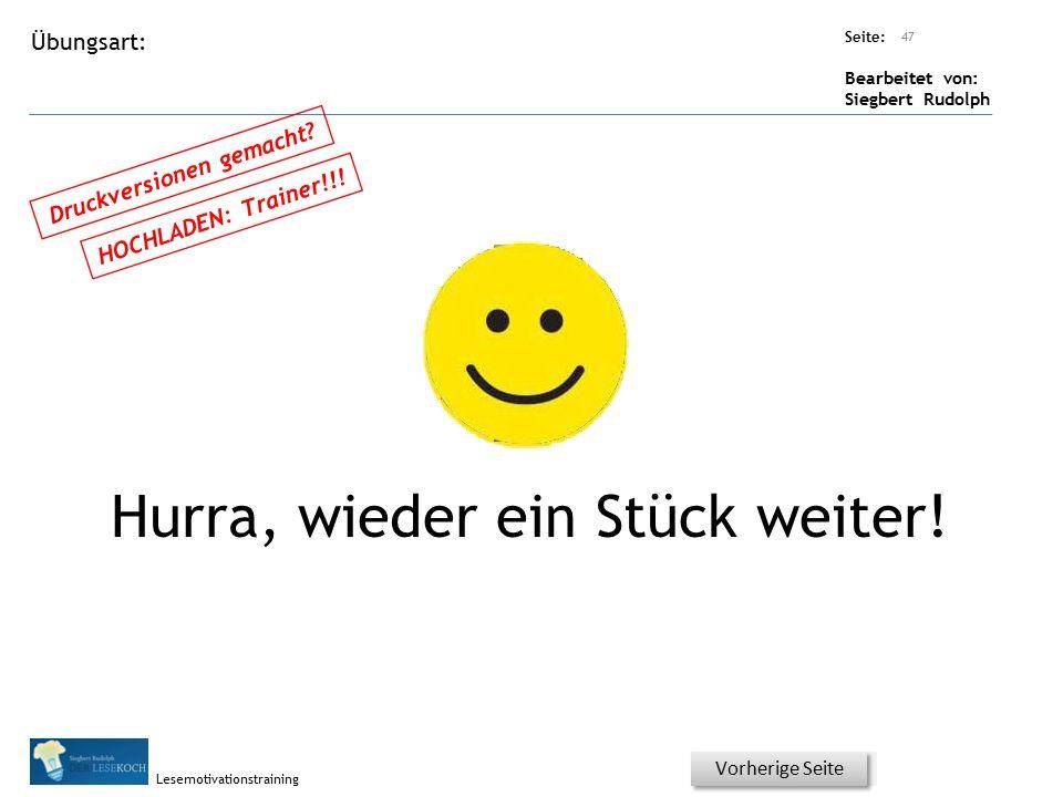 Übungsart: Seite: Bearbeitet von: Siegbert Rudolph Lesemotivationstraining 46 Wortschatz - Was könnte man auch sagen.