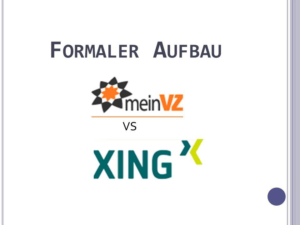 F ORMALER A UFBAU VS