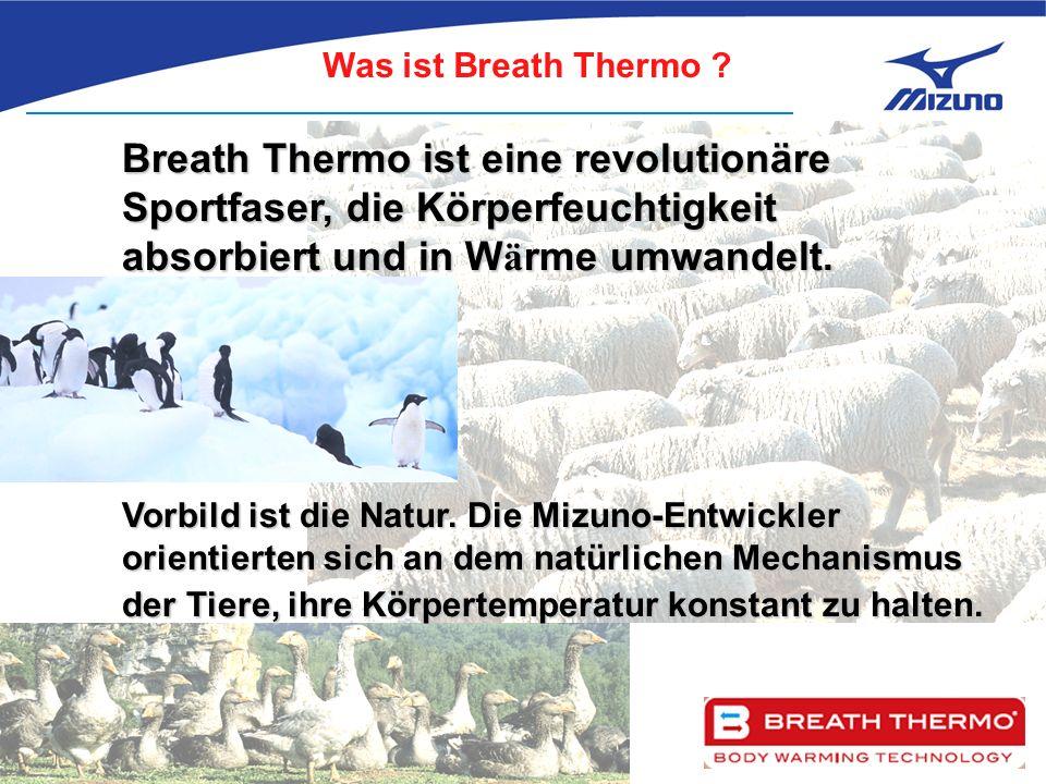 Breath Thermo ist eine revolutionäre Sportfaser, die Körperfeuchtigkeit absorbiert und in W ä rme umwandelt.