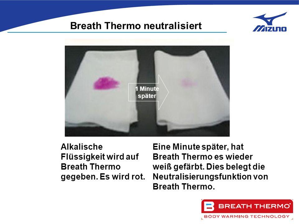 1 Minute später Alkalische Flüssigkeit wird auf Breath Thermo gegeben.