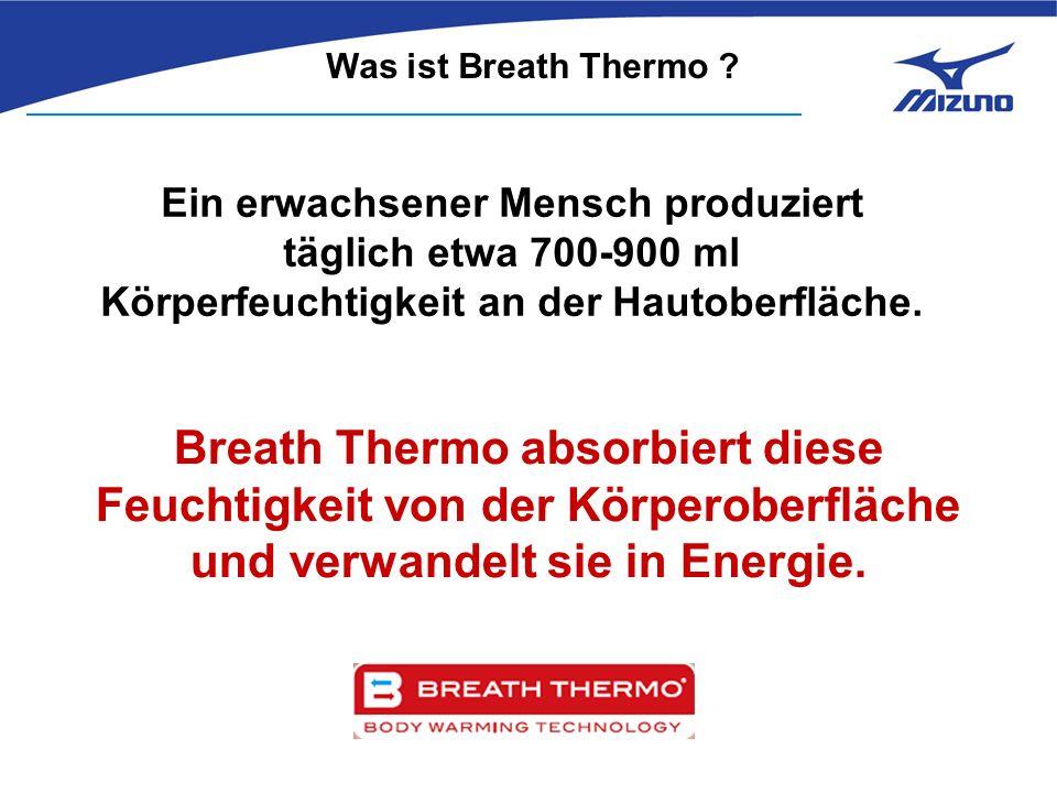 Anti-bakterielle Funktion Getestet mit Breath Thermo nach zehnmaligem Waschen.