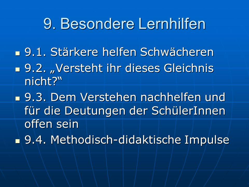 9. Besondere Lernhilfen 9.1. Stärkere helfen Schwächeren 9.1.